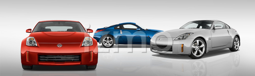 Group of three 2008 Nissan 350z Coupe's