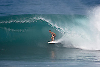 JEREMY FLORES (FRA) surfing at Backdoor, North Shore of Oahu, Hawaii. Photo: joliphotos.com