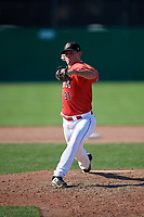 Batavia Muckdogs relief pitcher Jameson McGrane (31) delivers a pitch during a game against the Auburn Doubledays on September 2, 2018 at Dwyer Stadium in Batavia, New York.  Batavia defeated Auburn 5-4.  (Mike Janes/Four Seam Images)