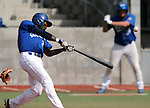 Western Nevada Wildcat's Donald Glover Jr. takes an at-bat during a college baseball game against Colorado Northwestern in Carson City, Nev., on Sunday, March 10, 2013. WNC swept the weekend series 4-0. .Photo by Cathleen Allison/Nevada Photo Source