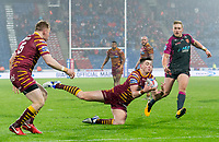 Picture by Allan McKenzie/SWpix.com - 15/03/2018 - Rugby League - Betfred Super League - Huddersfield Giants v Hull KR - John Smith's Stadium, Huddersfield, England - Sam Wood takes the ball.