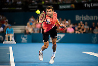 GRIGOR DIMITROV (BUL)<br /> <br /> BRISBANE INTERNATIONAL, PAT RAFTER <br /> ARENA, BRISBANE TENNIS CENTRE, BRISBANE, QUEENSLAND, AUSTRALIA, ATP, WTA, Hard Court, Outside, Men's tennis, Women's tennis, Men's singles, women's singles, men's doubles, women's doubles.<br /> <br /> &copy; TENNIS PHOTO NETWORK