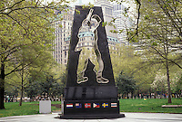 AJ3495, New York City, Battery Park, Manhattan, New York, NYC, N.Y.C., Universal Soldier Memorial at Battery Park in Lower Manhattan in New York City in the state of New York.