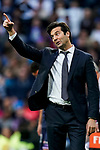 Manager Santiago Hernan Solari of Real Madrid reacts during the La Liga 2018-19 match between Real Madrid and Real Valladolid at Estadio Santiago Bernabeu on November 03 2018 in Madrid, Spain. Photo by Diego Souto / Power Sport Images