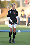 05 December 2008: Stanford's Kelley Birch. The Notre Dame Fighting Irish defeated the Stanford Cardinal 1-0 at WakeMed Soccer Park in Cary, NC in an NCAA Division I Women's College Cup semifinal game.