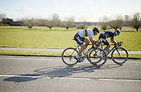 Michal Kwiatkowski (POL/SKY) &amp; Peter Sagan (SVK/Tinkoff) force a decisive breakaway and will fight for victory at the finish line<br /> <br /> E3 - Harelbeke 2016