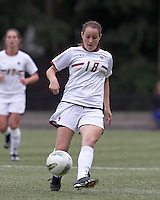 Boston College midfielder Patrice Vettori (18) passes the ball. Boston College defeated North Carolina State,1-0, on Newton Campus Field, on October 23, 2011.