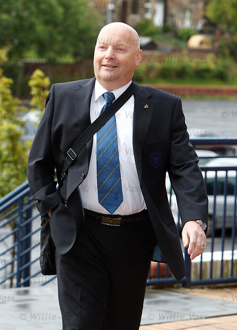 Jim Ballantyne of AIrdrie arrives for the SFA AGM this morning
