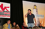 Daniel Cosgrove raps - Jordan Clarke, Jeff Branson, Tom Pelphrey, Kim Zimmer listen - So Long Springfield event brought out Guiding Light Actors as they  came to see fans at the Hyatt Regency in Pittsburgh, PA. for Q & A, acting scenes between actors and fans, and entertainment (singing) by GL finest during the weekend of October 24 and 25, 2009. (Photo by Sue Coflin/Max Photos)