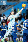 Getafe's Vicente Guaita during La Liga match. February 14,2016. (ALTERPHOTOS/Acero)