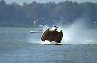 Frame 2: Jeff Shepherd blows over his Hoffman SST-120 boat during a qualifying run..PROP-Cypress Gardens Shootout, Winter Haven, Florida, USA 22 October,2000 copyright©F.Peirce Williams 2000..F.Peirce Williams .photography.P.O.Box 455  Eaton,OH 45320 USA.p: 317.358.7326  e: fpwp@mac.com