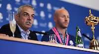 European Ryder Cup Team Captain Paul McGinley at  the final European Team Press Conference after Sunday's Singles at the 2014 Ryder Cup from Gleneagles, Perthshire, Scotland. Picture:  David Lloyd / www.golffile.ie