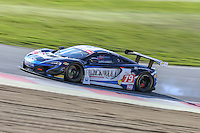 Black Bull Ecurie Ecosse British GT Championship car driven by Alasdair McCaig and Rob Bell during the British GT Championship Round 1 practice and qualifying at Brands Hatch, Longfield, England on 16 April 2016. Photo by David Horn.