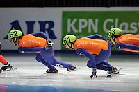 SCHAATSEN: DORDRECHT: Sportboulevard, Korean Air ISU World Cup Finale, 11-02-2012, Sjinkie Knegt NED (62), Niels Kerstholt NED (61), ©foto: Martin de Jong