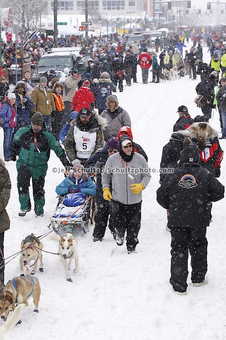 Tom Thurston March 3, 2012 Ceremonial Start of Iditarod 2012 in Anchorage, Alaska.