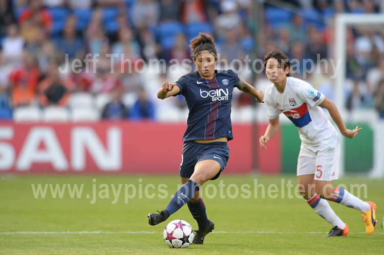 during the UEFA Champions league final Women's football between Lyon and Paris Saint-Germain at Cardiff City Stadium on 1st June 2017<br /> <br /> <br /> Jeff Thomas Photography -  www.jaypics.photoshelter.com - <br /> e-mail swansea1001@hotmail.co.uk -<br /> Mob: 07837 386244 -