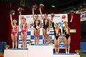 (L to R) Ayano Kishi (JPN), Ayana Yamada (JPN), JULY 9, 2011 - Trampoline : 2011 FIG Trampoline World Cup Series Kawasaki Women's Synchro Final at Todoroki Arena, Kanagawa, Japan.(Photo by YUTAKA/AFLO SPORT) [1040]