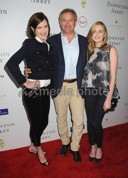 6 June 2015 - Beverly Hills, California - Elizabeth McGovern, Hugh Bonneville, Laura Carmichael. An Afternoon With Downton Abbey - Talent Panel Q & A held at the Writers Guild Theatre. Photo Credit: Byron Purvis/AdMedia