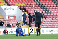 Danny Parish of Maldon is sent off for a second bookable offence during Leyton Orient vs Maldon & Tiptree, Emirates FA Cup Football at The Breyer Group Stadium on 10th November 2019