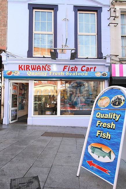 Kirwan's Fish Shop, Laurence Street..(Photo credit should read Jenny Matthews www.newsfile.ie)....This Picture has been sent you under the conditions enclosed by:.Newsfile Ltd..The Studio,.Millmount Abbey,.Drogheda,.Co Meath..Ireland..Tel: +353(0)41-9871240.Fax: +353(0)41-9871260.GSM: +353(0)86-2500958.email: pictures@newsfile.ie.www.newsfile.ie.