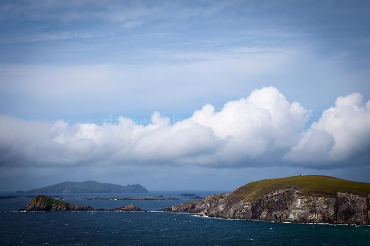 View of Dunmore head and the Blasket Islands, Slea Head, Dingle Peninsula, Kerry, Ireland
