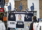 Merchandise is for sale outside the stadium showing new Manager, Jose Mourinho ahead of the Premier League match at the Tottenham Hotspur Stadium, London. Picture date: 30th November 2019. Picture credit should read: Paul Terry/Sportimage