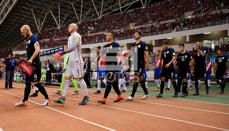 San Jose, Costa Rica - November 15, 2016: The U.S. Men's National team go down 0-1 to Costa Rica during Hexagonal round action in a World Cup Qualifying match at Estadio Nacional de Costa Rica.