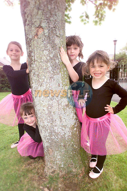 Eve Murray, Sadhbh Carson, Ciara Kelly and Caoimh Channon from the Katherine Martin school of Ballet..Picture Paul Mohan Newsfile
