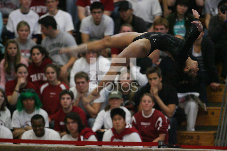 13 January 2008: Stanford Cardinal Allyse Ishino during Stanford's 196.875-196.150 loss against the Georgia Gym Dogs (Bulldogs) at Burnham Pavilion in Stanford, CA.