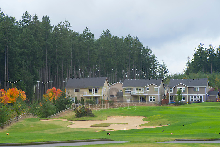Homes on a golf course