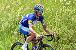 Julian Alaphilippe (FRA) Quick-Step Floors from the breakaway group in action during Stage 7 of the 2018 Criterium du Dauphine 2018 running 136km from Moutiers to Saint Gervais Mont Blanc, France. 10th June 2018.<br /> Picture: ASO/Alex Broadway | Cyclefile<br /> <br /> <br /> All photos usage must carry mandatory copyright credit (© Cyclefile | ASO/Alex Broadway)