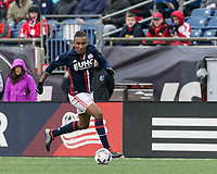 Foxborough, Massachusetts - March 25, 2017: In a Major League Soccer (MLS) match, New England Revolution (blue/white) defeated Minnesota United FC (white/gray), 5-2, at Gillette Stadium.