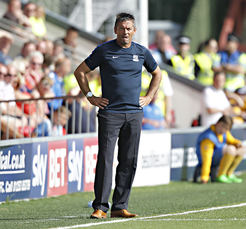 Southend United's Manager Phil Brown<br /> <br /> Photographer Mick Walker/CameraSport<br /> <br /> Football - The Football League Sky Bet League One - Fleetwood Town v Southend United - Saturday 8th August 2015 - Highbury Stadium - Fleetwood<br /> <br /> &copy; CameraSport - 43 Linden Ave. Countesthorpe. Leicester. England. LE8 5PG - Tel: +44 (0) 116 277 4147 - admin@camerasport.com - www.camerasport.com
