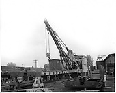 D&amp;RGW derrick OP used in rebuilding US Army flat car #000052.<br /> D&amp;RGW  Alamosa, CO  Taken by Richardson, Robert W. - 6/12/1955