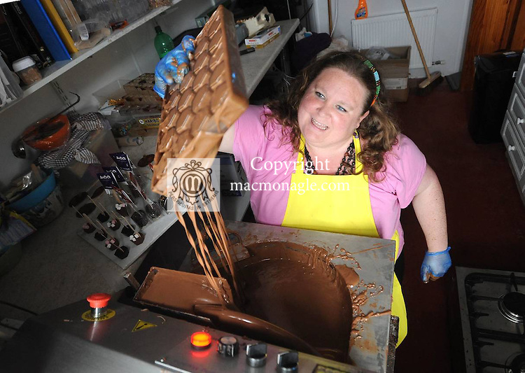 07/09/2012: Saorla O'Corrain at work in her kitchen at Dovinia Chocolates, Baile na nGall, Dingle, Co. Kerry.  Picture: Eamonn Keogh ( MacMonagle, Killarney).