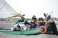 ZEILEN: LEMMER: 20-08-2016, IFKS Skûtsjesilen, schipper Arnold Veenema met het Skûtsje ZELDENRUST, ©foto Martin de Jong