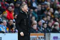 Peterborough United manager Grant McCann during the Sky Bet League 1 match between Bradford City and Peterborough at the Northern Commercial Stadium, Bradford, England on 26 December 2017. Photo by Thomas Gadd.