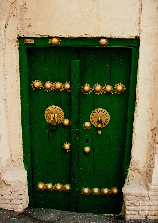 A traditionnal door in old Yazd city, Iran