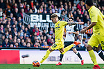 Samuel Castillejo Azuaga, Samu Castillejo, of Villarreal CF (C) in action during the La Liga 2017-18 match between Valencia CF and Villarreal CF at Estadio de Mestalla on 23 December 2017 in Valencia, Spain. Photo by Maria Jose Segovia Carmona / Power Sport Images