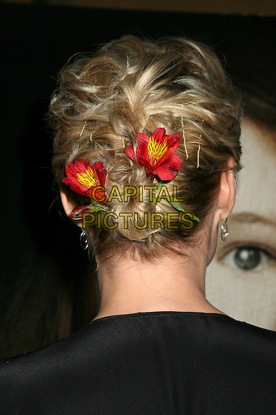 "LAURIE HOLDEN.Los Angeles Premiere of ""Silent Hill"" at the Eqyptian Theater, Hollywood, California, USA,.20 April 2006..portrait headshot red flowers in hair clips slides accessories back behind.Ref: ADM/BP.www.capitalpictures.com.sales@capitalpictures.com.©Byron Purvis/AdMedia/Capital Pictures."