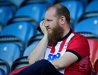 Lincoln City fans enjoy the pre-match atmosphere<br /> <br /> Photographer Andrew Vaughan/CameraSport<br /> <br /> The Carabao Cup First Round - Huddersfield Town v Lincoln City - Tuesday 13th August 2019 - John Smith's Stadium - Huddersfield<br />  <br /> World Copyright © 2019 CameraSport. All rights reserved. 43 Linden Ave. Countesthorpe. Leicester. England. LE8 5PG - Tel: +44 (0) 116 277 4147 - admin@camerasport.com - www.camerasport.com
