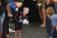 Boys gets to lead the Warriors out.<br />