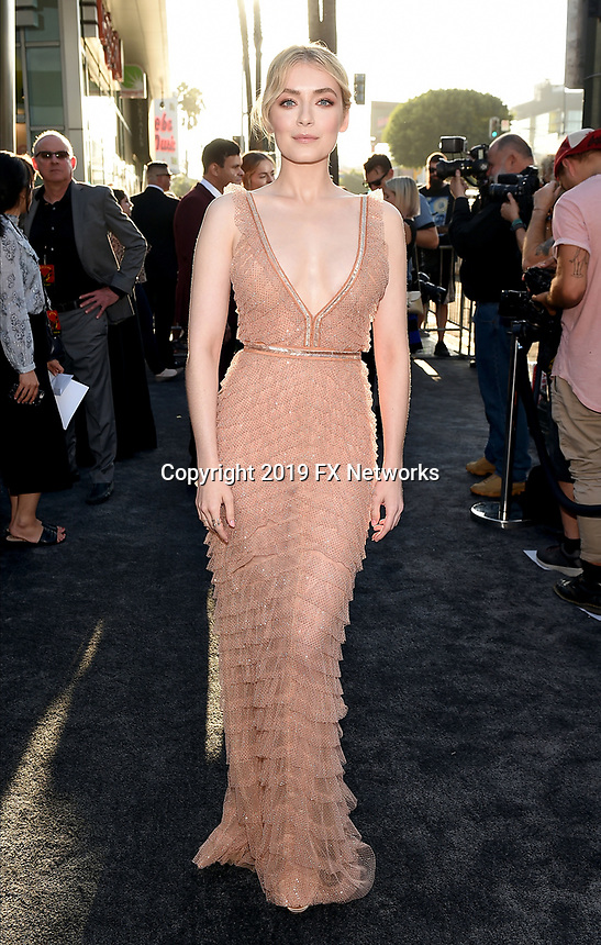 """LOS ANGELES - AUGUST 27: Sarah Bolger attends the season two red carpet premiere of FX's """"Mayans M.C"""" at the ArcLight Dome on August 27, 2019 in Los Angeles, California. (Photo by Frank Micelotta/FX/PictureGroup)"""