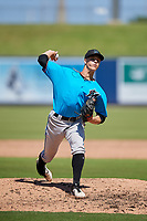 Miami Marlins pitcher Eli Villalobos (2) during an Instructional League game against the Washington Nationals on September 26, 2019 at FITTEAM Ballpark of The Palm Beaches in Palm Beach, Florida.  (Mike Janes/Four Seam Images)