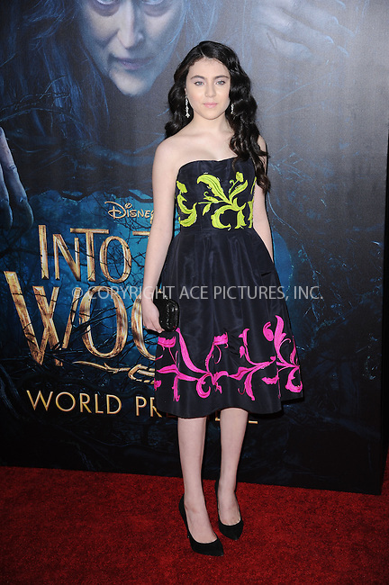 WWW.ACEPIXS.COM<br /> December 8, 2014 New York City<br /> <br /> Lilla Crawford attending the World Premiere of 'Into the Woods' at the Ziegfeld Theatre on December 8, 2014 in New York City.<br /> <br /> Please byline: Kristin Callahan/AcePictures<br /> <br /> Tel: (212) 243 8787 or (646) 769 0430<br /> e-mail: info@acepixs.com<br /> web: http://www.acepixs.com