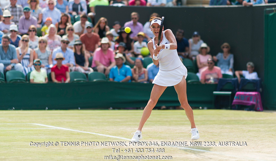 AGNIESZKA RADWANSKA (POL)<br /> <br /> TENNIS - THE CHAMPIONSHIPS - WIMBLEDON- ALL ENGLAND LAWN TENNIS AND CROQUET CLUB - ATP - WTA -ITF - WIMBLEDON-SW19, LONDON, GREAT  BRITAIN- 2017  <br /> <br /> <br /> &copy; TENNIS PHOTO NETWORK