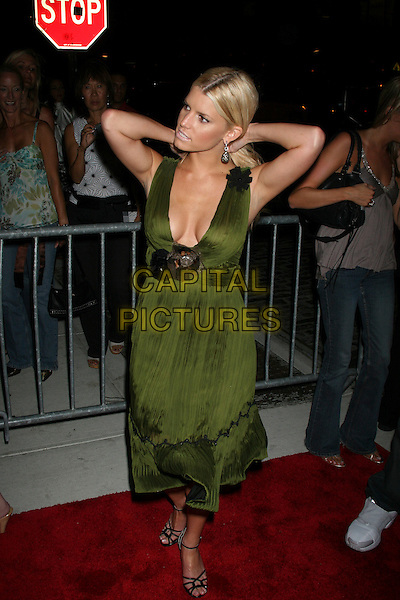 JESSICA SIMPSON.OK Magazine Party.Hotel Gansevoort, New York City, USA.20 September 2005.Ref: IW.full length green dress.www.capitalpictures.com.sales@capitalpictures.com.©Capital Pictures
