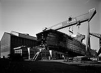 Mei 1965.  Cockerill Ougree scheepswerf.