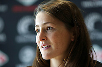 10.12.2015 Silver Ferns Jess Moulds at a press conference  today in Auckland. Mandatory Photo Credit ©Michael Bradley.