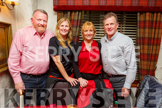 Enjoying the night out in Cassidys on Saturday night. <br /> L to r: Tim and Irene Cowhig (Cork and Tralee), Sim Clifford (Tralee) and James O&rsquo;Dowd (Tralee).